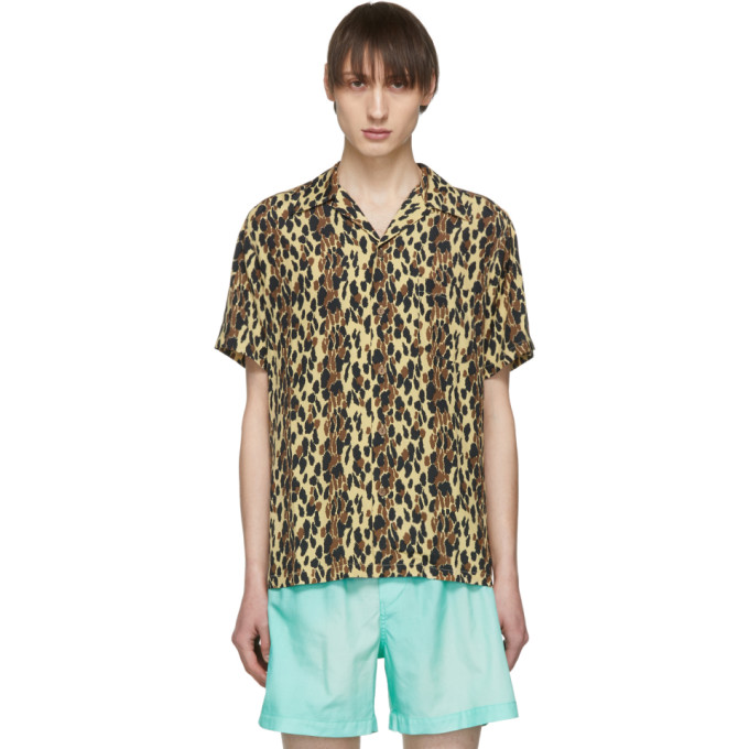 4ea147dc Wacko Maria Beige And Black Leopard Hawaiian Shirt | ModeSens