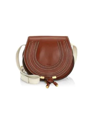 86d2475206 Medium Marcie Leather Saddle Bag in Sepia Brown