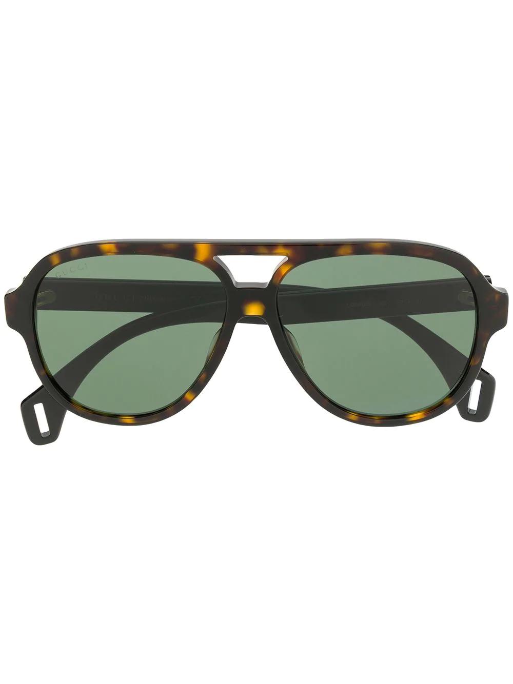 bb2a0d2f13 Gucci Eyewear Aviator Sunglasses - Brown
