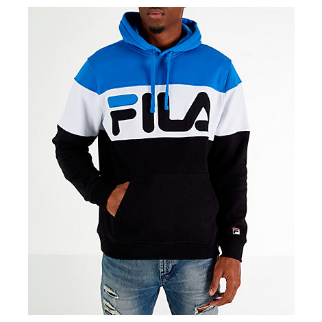 8bdaf3c0c55d Fila Men's Flamino Pullover Hoodie, Blue/Black   ModeSens
