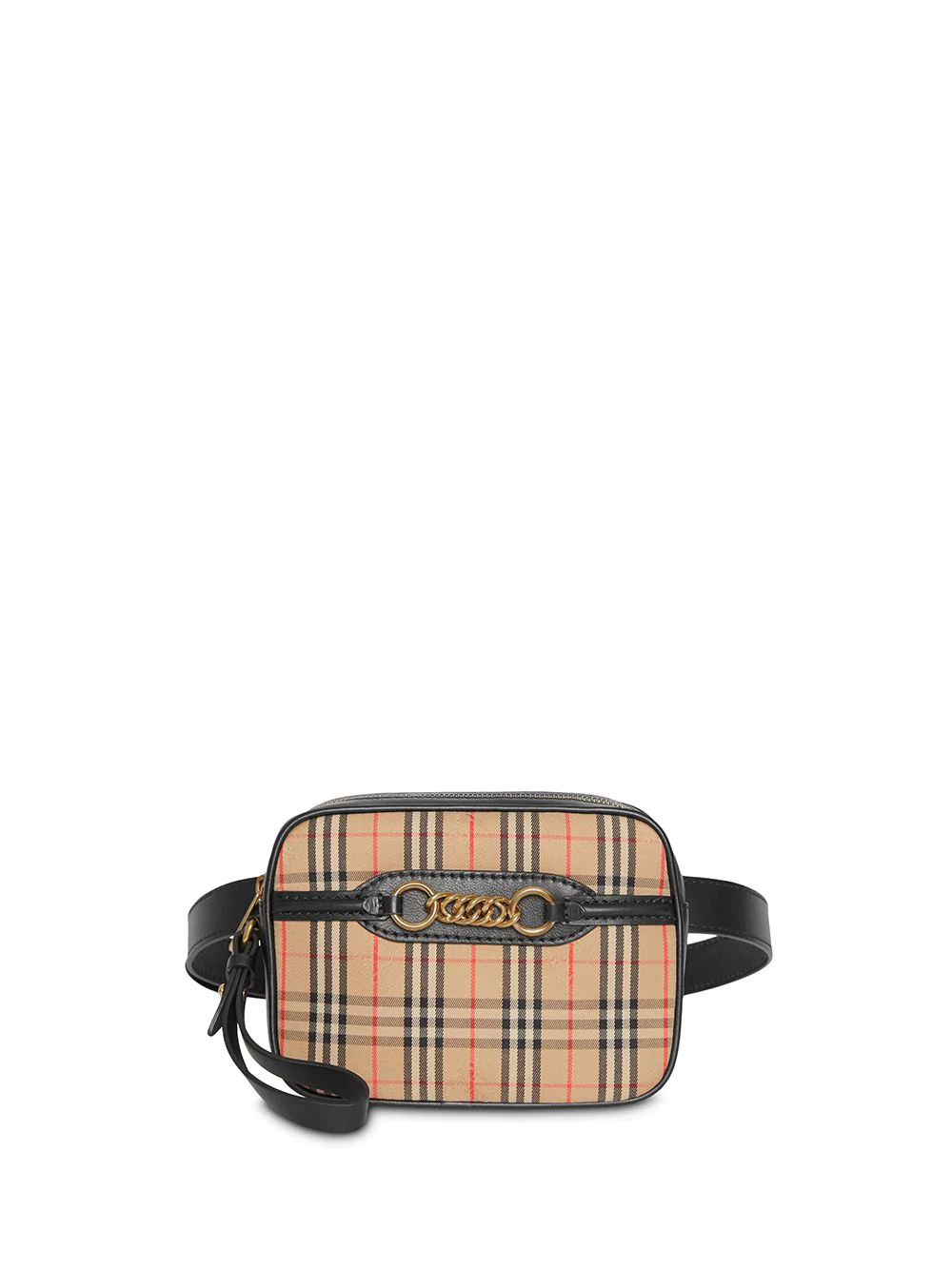 c6e0d4c310 Burberry The 1983 Check Link Bum Bag With Leather Trim In Black ...