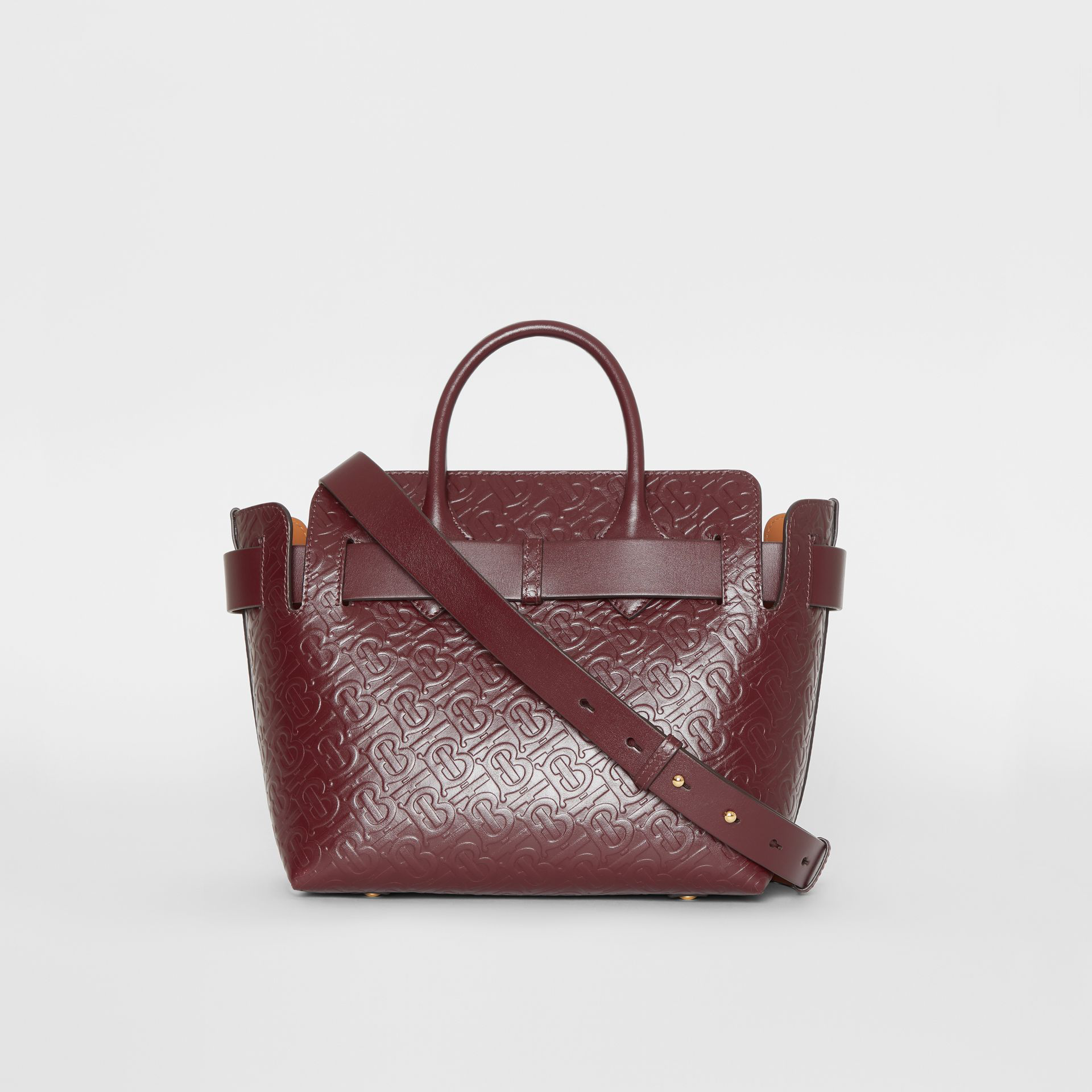 eb918734eadb Burberry The Small Monogram Leather Triple Stud Belt Bag In Red ...