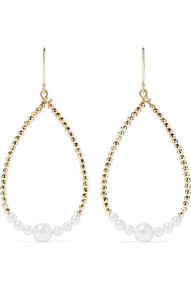 8e3b96f6f73e71 Mizuki 14-Karat Gold Pearl Earrings   ModeSens