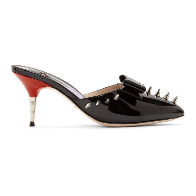 78c428754f8 Gucci Black Spike Sade Heels In 1000 Black. SSENSE