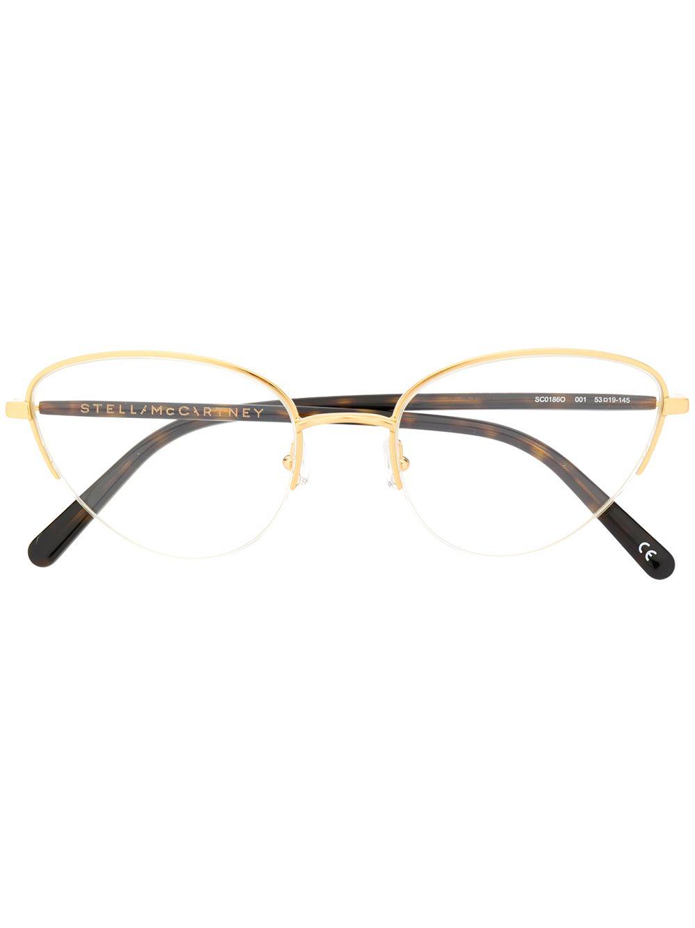 Stella Eyewear Halbem Gold Brille Mccartney Gestell Mit pSULMGqzV