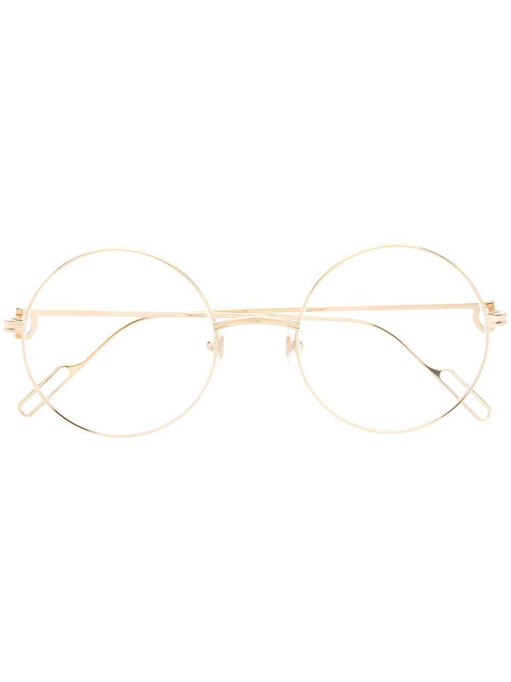 3aae37ffca6f Cartier Round Shaped Glasses - Gold | ModeSens