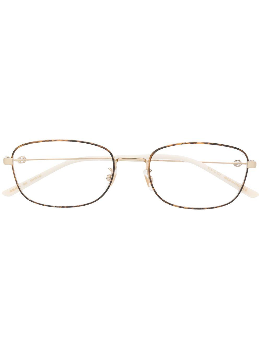 f39d9193d4f2f Gucci Eyewear Thin Tortoiseshell Square Frame Glasses - Gold