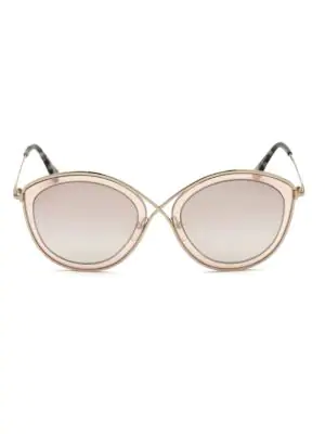 bd23aa037c843 Tom Ford Sascha 55Mm Butterfly Sunglasses - Light Brown  Brown Mirror