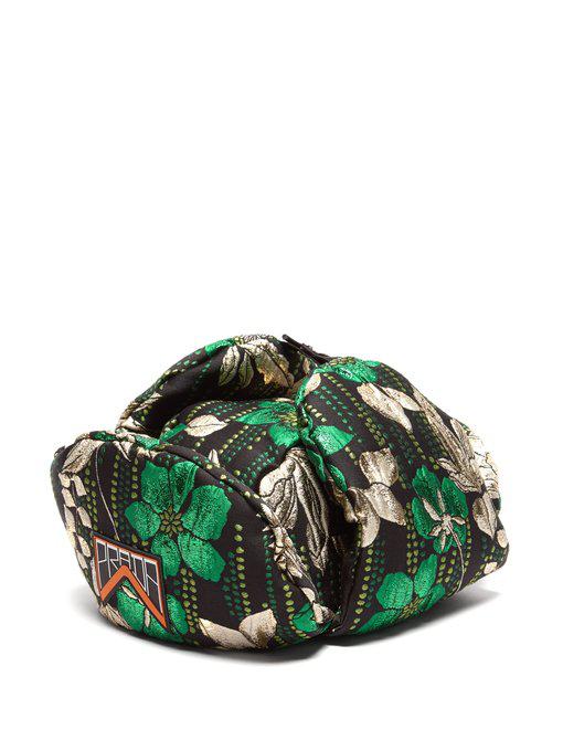 0ccfac53 Prada - Floral Jacquard Brocade Trapper Hat - Womens - Green   ModeSens