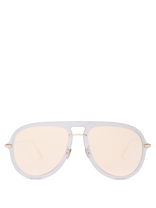 4d687d205036 Dior Ultime1 Mirrored Aviator Sunglasses In Silver Gold | ModeSens