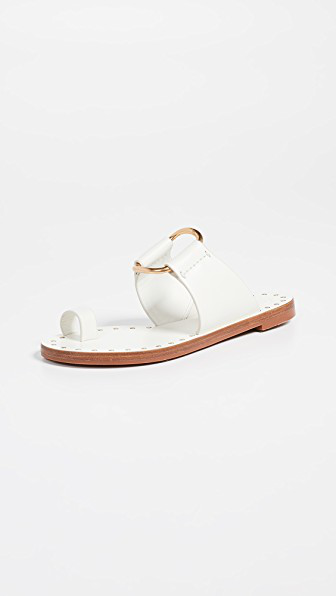 22645be0133f Tory Burch Ravello Studded Sandals In Perfect Ivory
