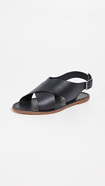 0a5f4a2371ee Madewell Reka Crisscross Outstock Sandals In True Black