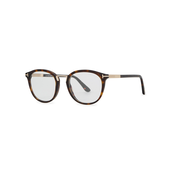 88587a69ce35 Tom Ford Tortoiseshell Round-Frame Optical Glasses