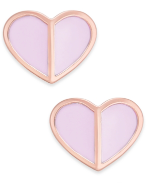 8c7d581a2 Kate Spade New York Gold-Tone Heart Stud Earrings In Pale Vellum ...