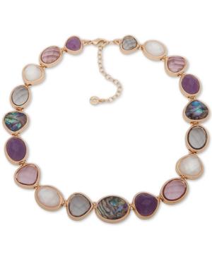4125d6a33680 Anne Klein Gold-Tone Multi-Stone Collar Necklace
