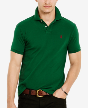 e488cb03 Polo Ralph Lauren Men's Classic-Fit Cotton Mesh Polo Shirt In New Forest
