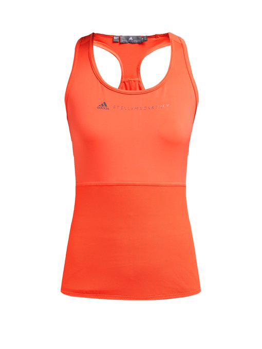 best website c598e ef435 Adidas By Stella Mccartney - Essential Mesh Panel Performance Tank Top -  Womens - Orange