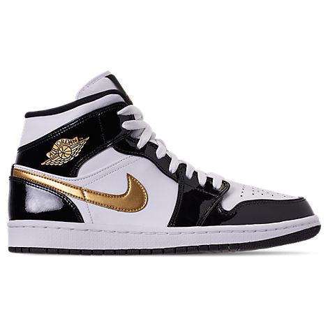 best service d6f36 57ec4 Nike Men s Air Jordan Retro 1 Mid Premium Basketball Shoes, Black
