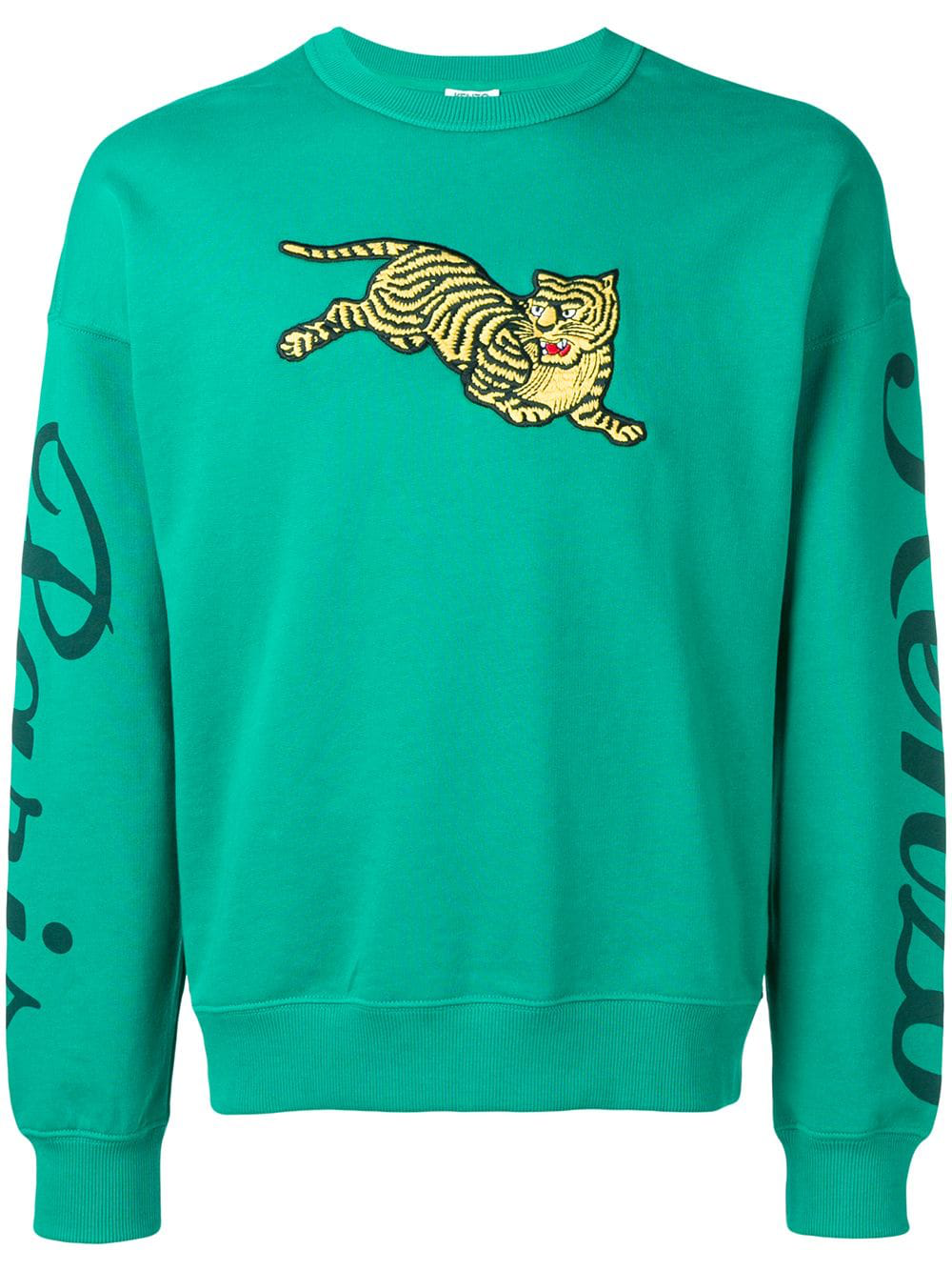 65e07f69 Kenzo Jumping Tiger Sweatshirt In Green | ModeSens