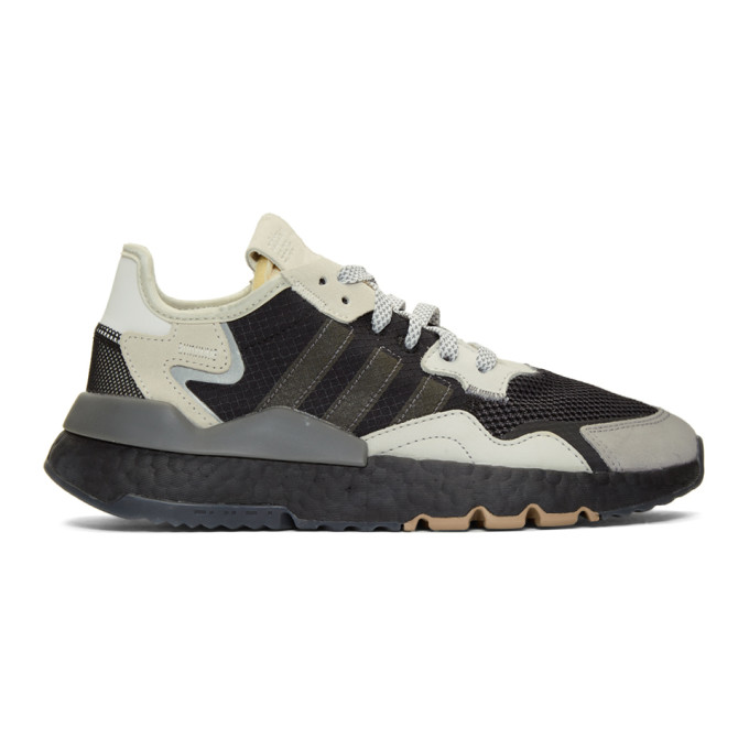 watch 0d418 810b1 Adidas Originals Black And Grey Nite Jogger Sneakers In Black White
