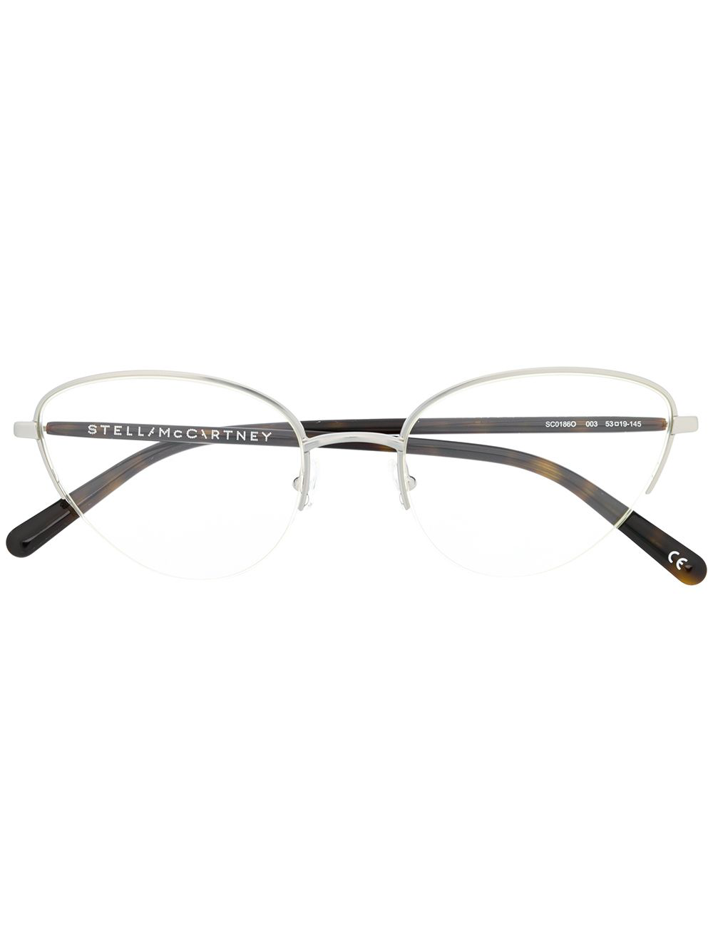 73d80e375265c Stella Mccartney Eyewear Cat Eye Frame Glasses - Brown