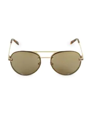 e908debfb1210 Montblanc 59Mm Aviator Sunglasses In Gold Brown