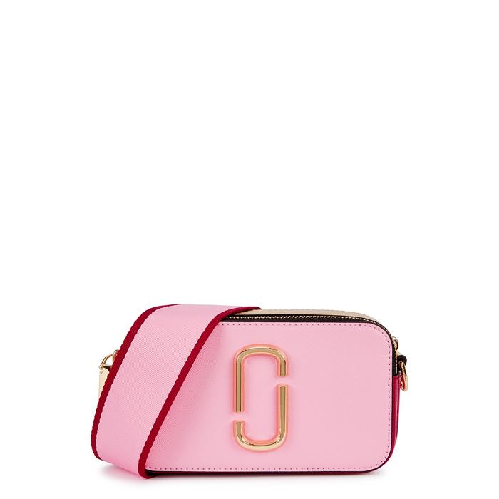 f76ec183f872 Marc Jacobs Snapshot Pink Leather Shoulder Bag In Light Pink