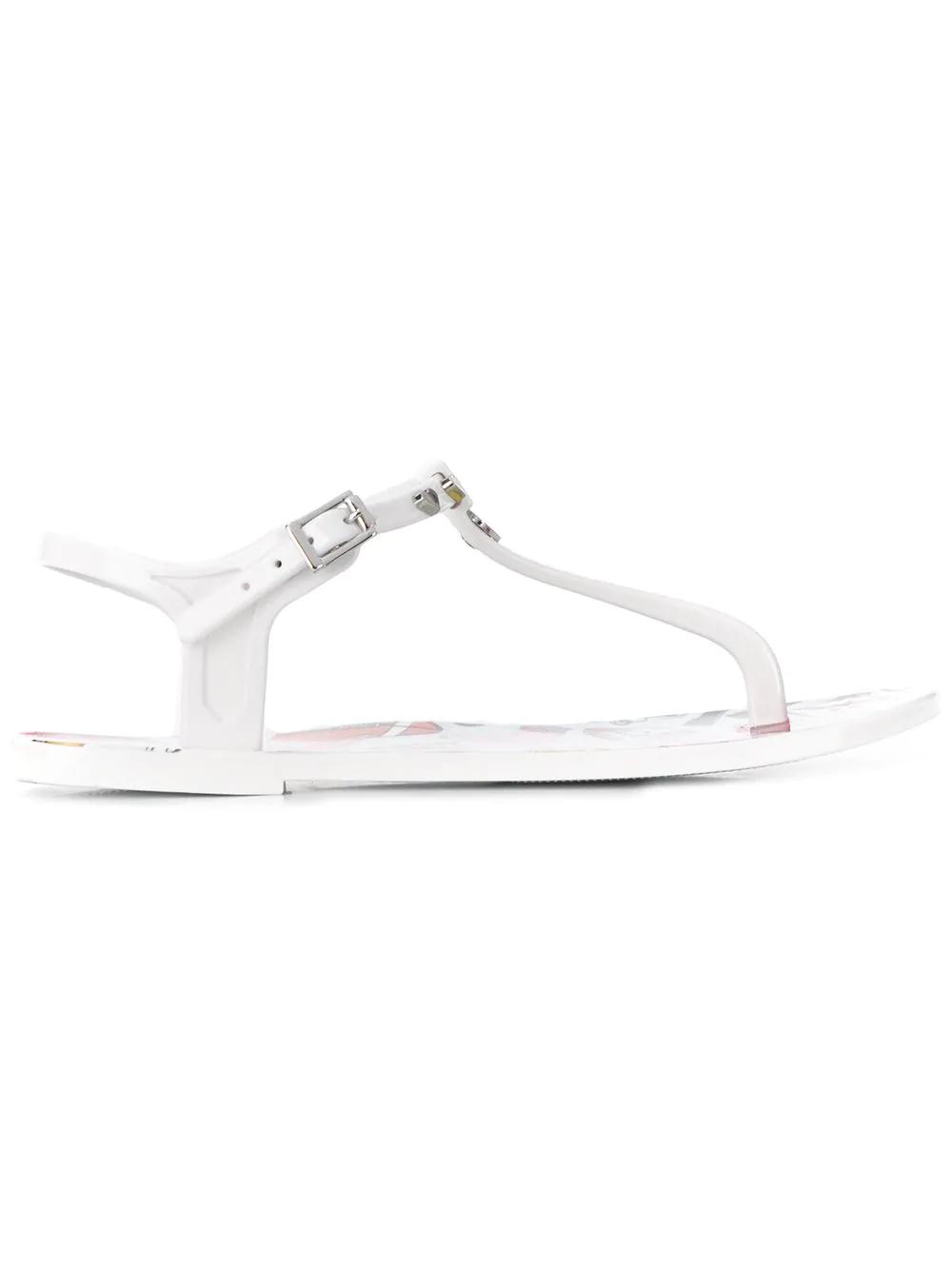 79c89974914 Love Moschino Heart Thong Strap Sandals - White. Farfetch
