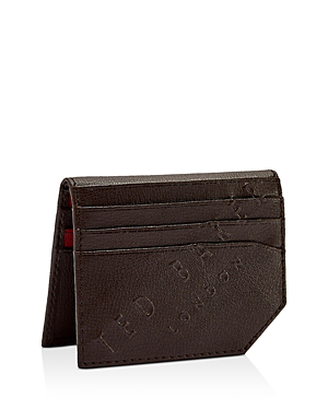 bdf5d3842 Ted Baker Wuncard Embossed Leather Cardholder In Chocolate