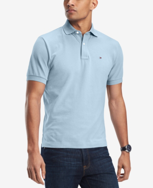 1b28c2ba Tommy Hilfiger Men's Custom-Fit Ivy Polo In Skyway | ModeSens