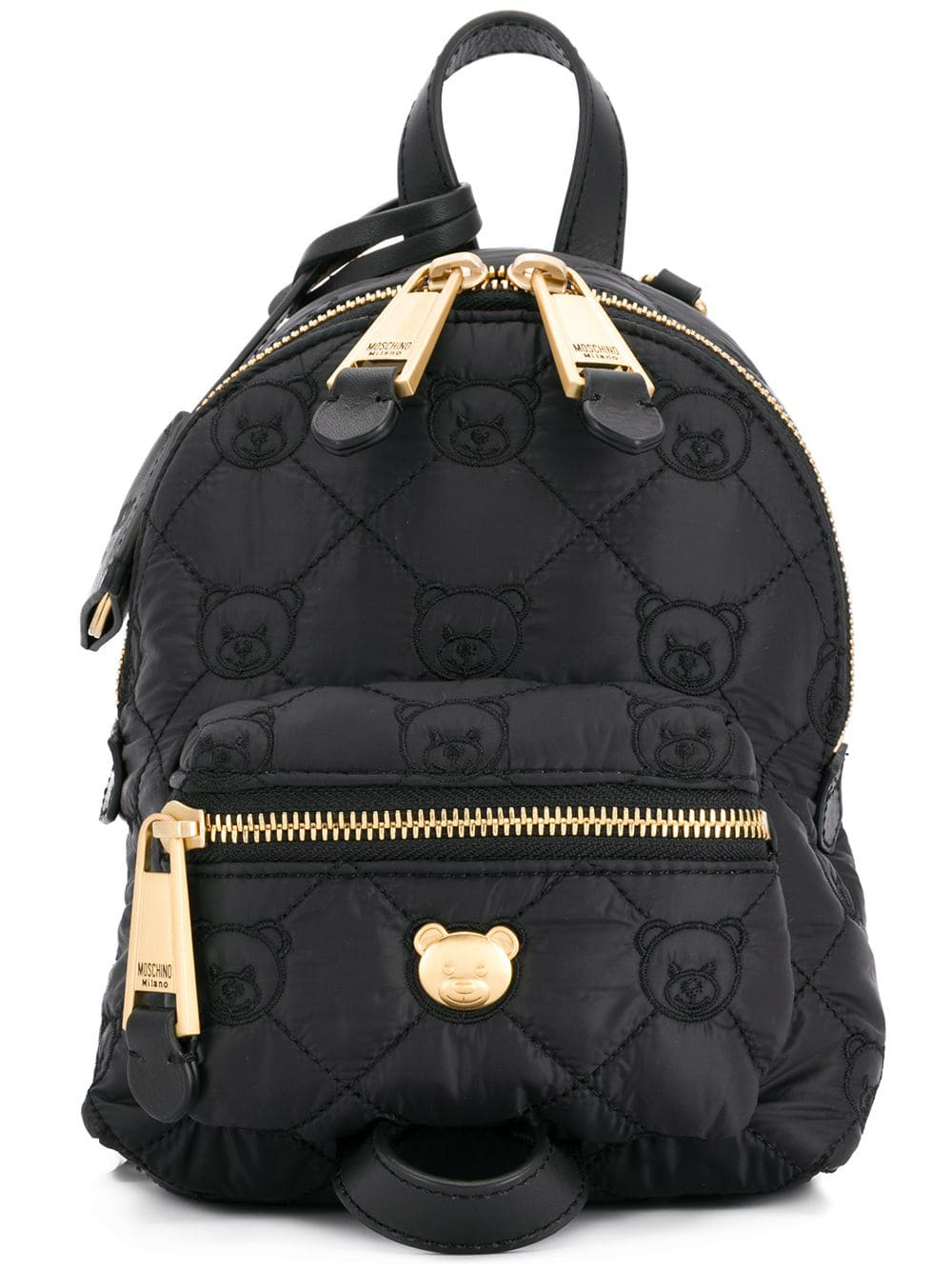 8512b764772 Moschino Black Quilted Backpack | The Shred Centre