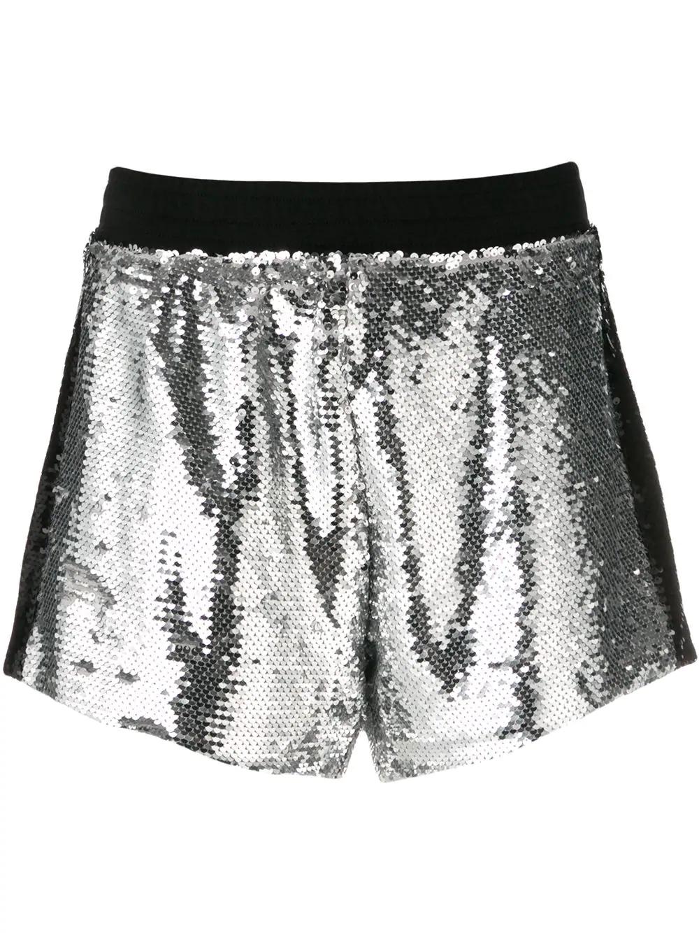 69f02c9904 Chiara Ferragni Sequin Shorts - Silver   ModeSens