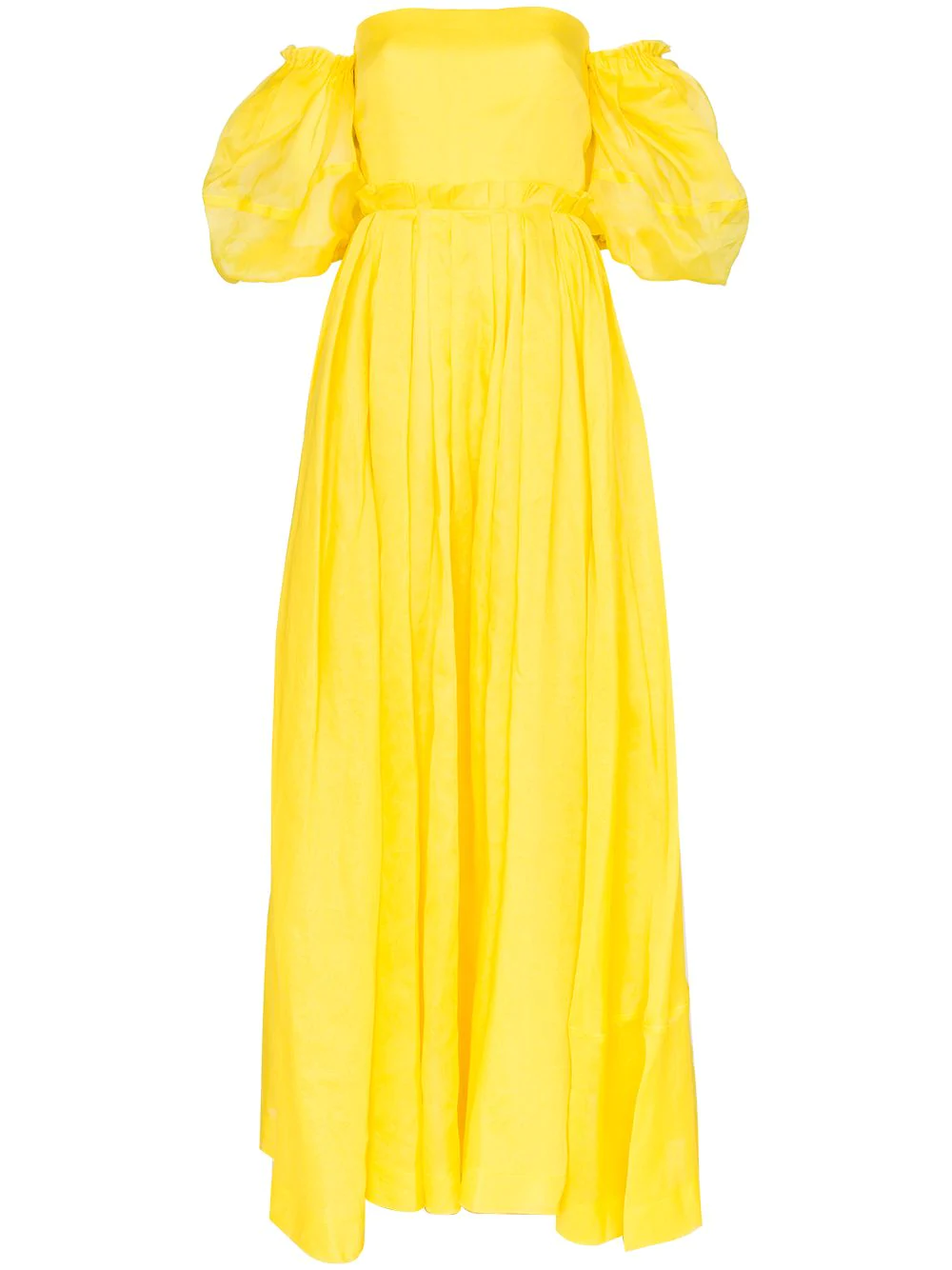 63afb19305ed Loewe Off-The-Shoulder Maxi Dress - Yellow