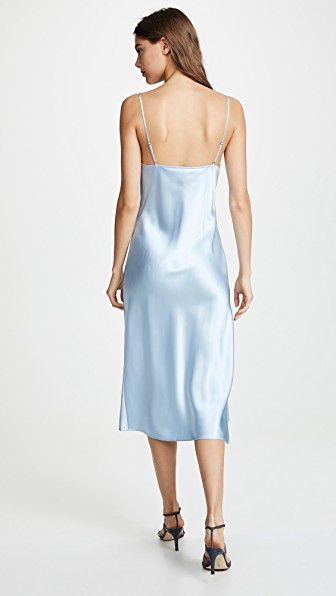 4f5d1ff1d44b Fleur Du Mal Cowl Neck Slip Dress In Icy Blue | ModeSens