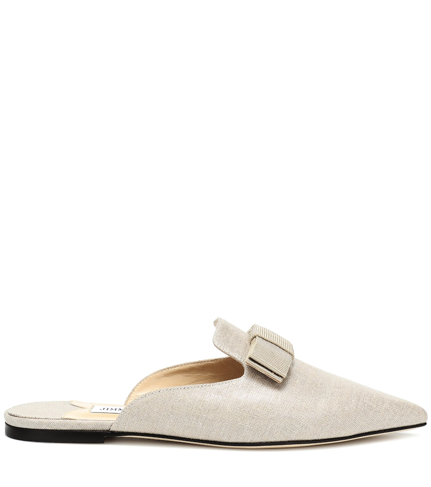 037fd1e0ec08 Jimmy Choo Galaxy Flat Slippers In Beige