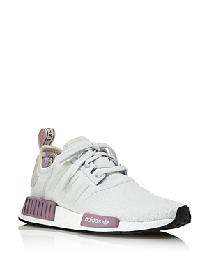 b7c4fb151b748 Adidas Originals Women s Nmd R1 Knit Athletic Sneakers In White ...