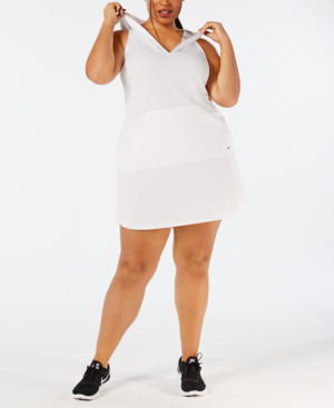bb348c01ec Nike Plus Size Hooded Cover-Up Dress Women s Swimsuit In White ...
