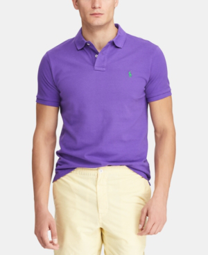 3ccda96a Polo Ralph Lauren Men's Classic-Fit Cotton Mesh Polo Shirt In Cabana Purple