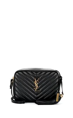 69ea538a7e44 Saint Laurent Loulou Monogram Ysl Medium Chevron Quilted Leather Camera  Shoulder Bag - Brilliant Golden Hardware