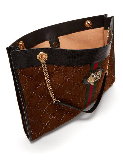 c85d4271 Large Rajah Gg Velvet Tote Bag in Brown