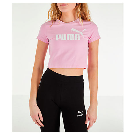 ef5c6869e25 Puma Women's Amplified Cropped T-Shirt, Pink In Pale Pink   ModeSens