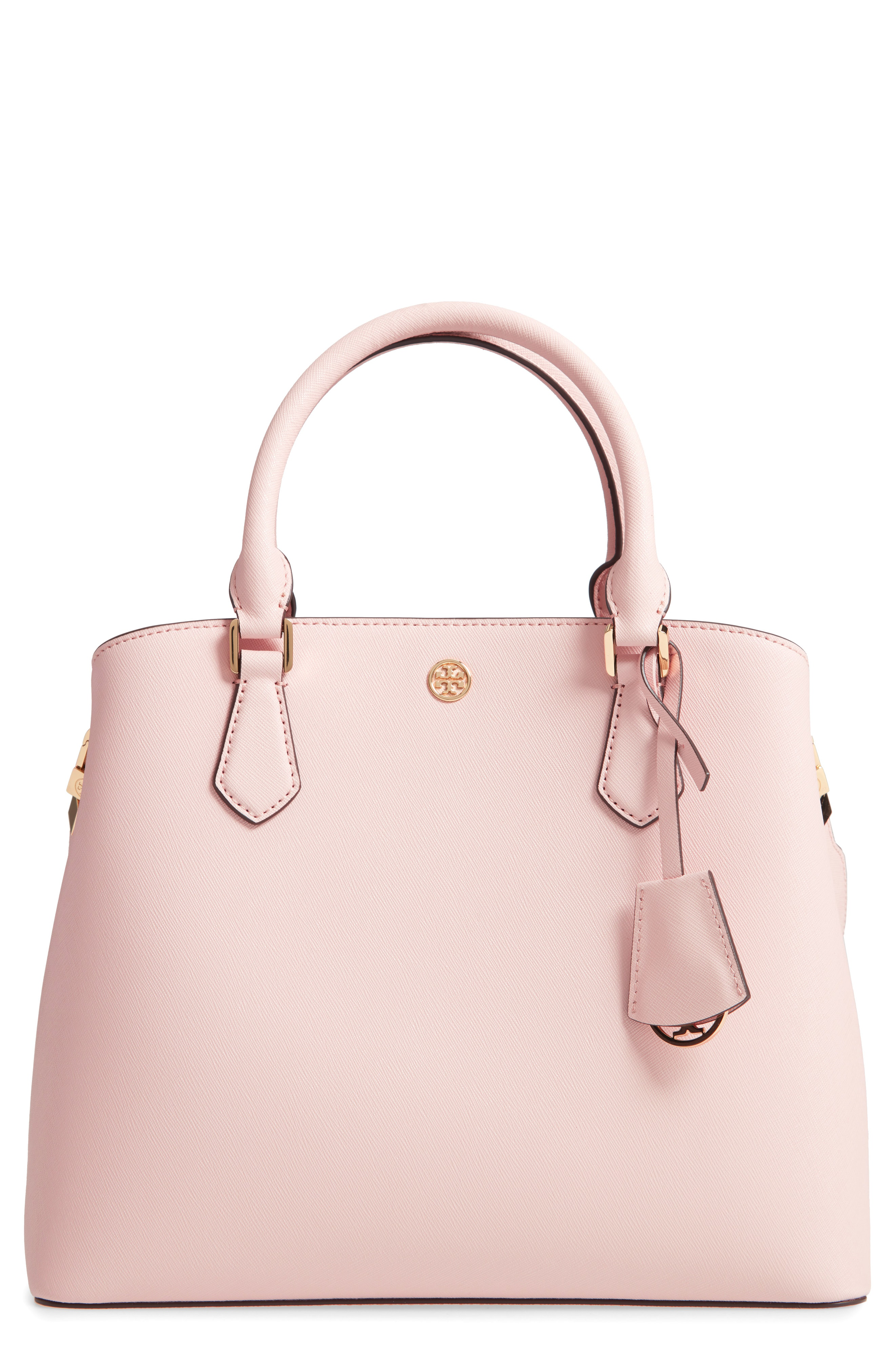 872d531915b0 Tory Burch Medium Robinson Leather Triple Compartment Bag - Pink In Shell  Pink