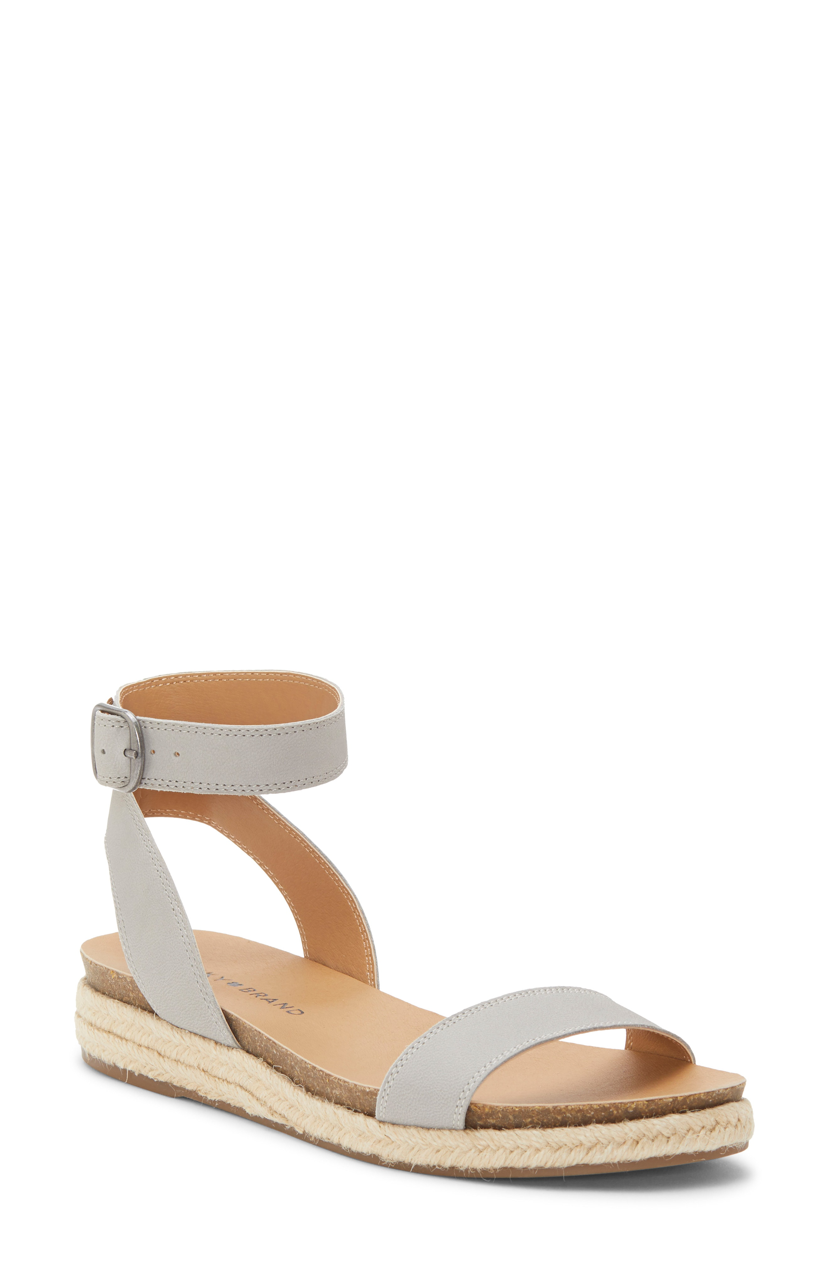 8b210ea554c73 Lucky Brand Garston Espadrille Sandal In Chinchilla Leather