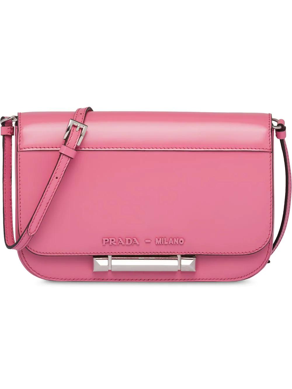 add8a408801c Prada Sybille Leather Shoulder Bag - Pink | ModeSens