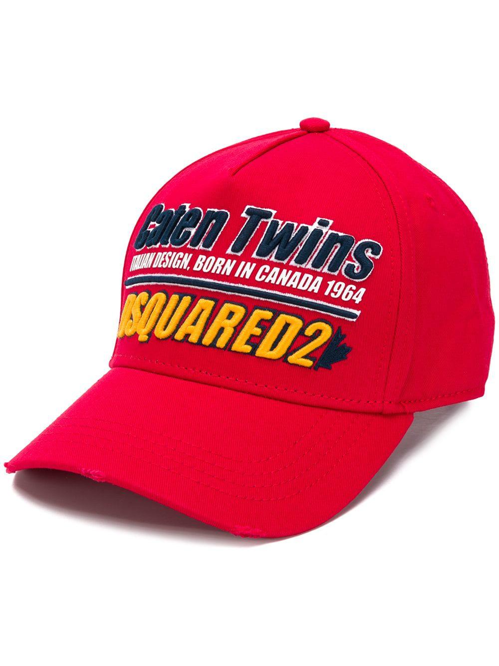 eb6b5d8b1 Dsquared2 Caten Twins Logo Baseball Cap In Red | ModeSens