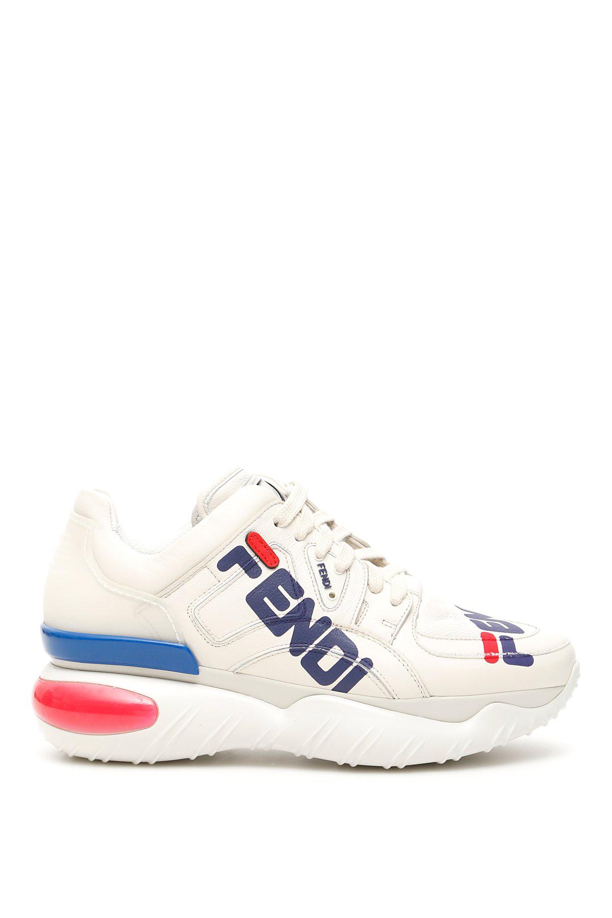 60b274142094 Fendi Mania Platform Sneakers In Bice+Caipir+Blueber. CETTIRE