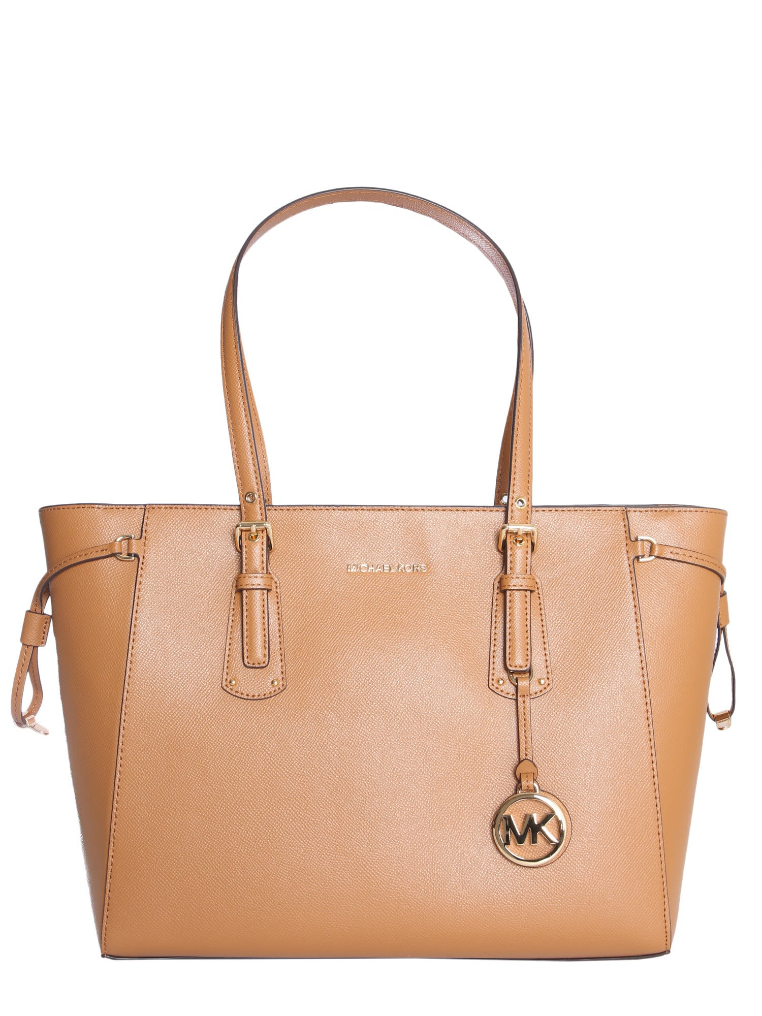 7dac82fdfbd6 Michael Michael Kors Voyager Medium Tote Bag In Marrone