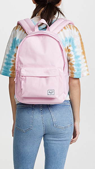 05afef492e9 Herschel Supply Co. Classic Mid Volume Backpack In Pink Lady Crosshatch