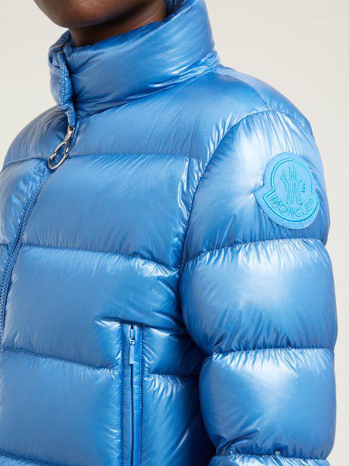 575e1ffc6 Moncler - Copenhague High Neck Down Filled Coat - Womens - Light Blue