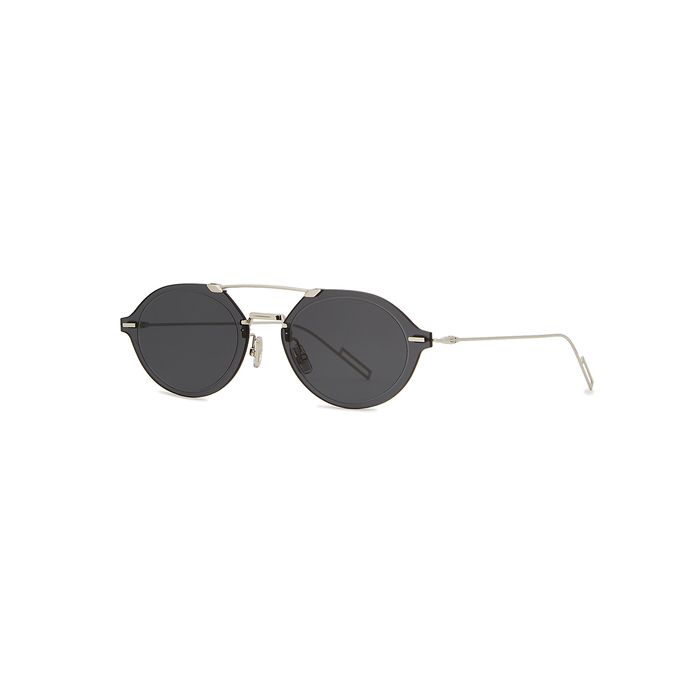 6bb465907862 Dior Homme Dior Chroma 3 Oval-Frame Sunglasses In Silver